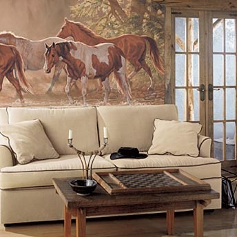 Buy Your Misty River Wild Horses Chair Rail XL Wall Mural Here. Create A  Vibrant Scene In Your Childu0027s Room With Prepasted Wall Murals. Part 95