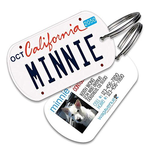 California License Plate Pet Tag  Dog Tags for Dogs Dog Id Tags Custom Pet Tags Dog Name Tags Personalized Pet Id Tags Cat Id Tags * You can find more details by visiting the image link.