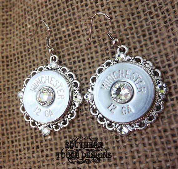 Bullet jewelry shotgun jewelry silver by SouthernTouchDesigns
