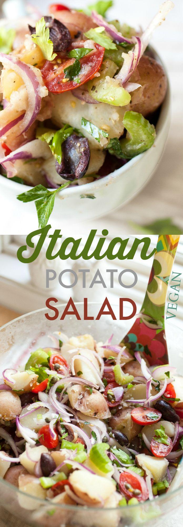 Produce On Parade - Italian Potato Salad - Seriously the best potato salad. Mayo-free!