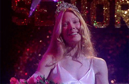 "What Stephen King character are you? / CARRIE They're going to laugh at you""! You're misunderstood, some you feel alone but know that to us you'll always be prom queen."