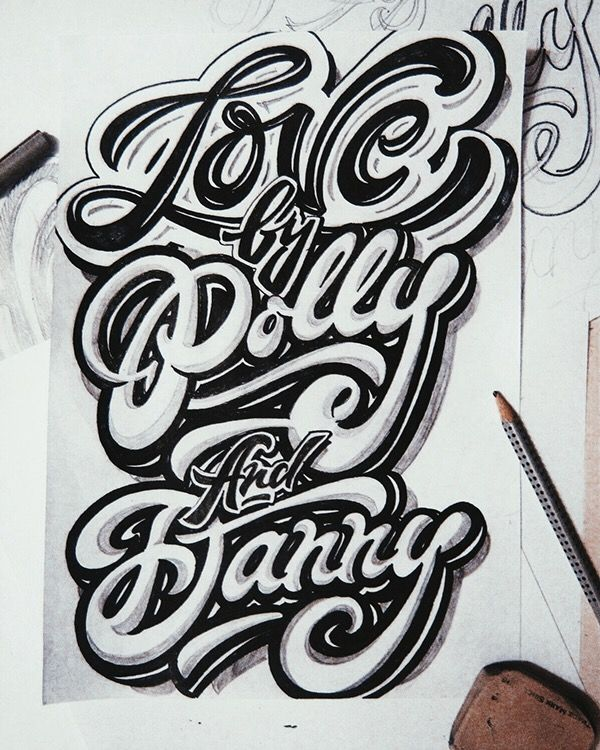 lettering sketches (2014) | by Kirill Richert on Behance
