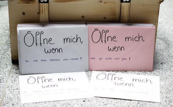 öffne Wenn Briefe Beispiele : Ideen für Öffne mich wenn briefe als geschenk diy