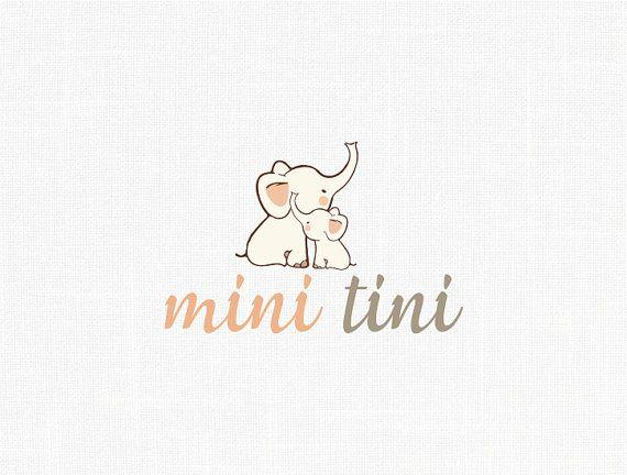Premade Children Logo Design Baby Logo Elephant Logo design Boutique Logo