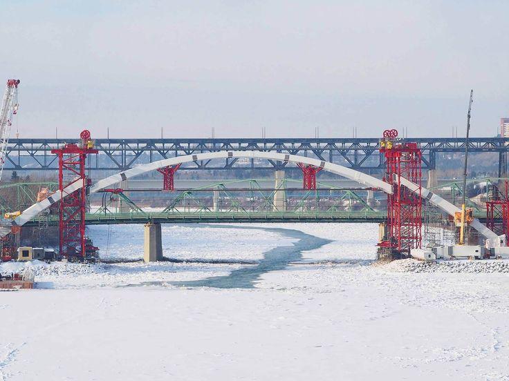 Walterdale Bridge Replacement - Arch Lift - January 2016