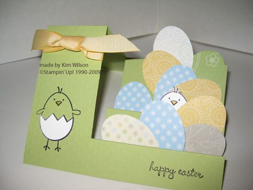 Side-step Easter Card. Instructions on page.
