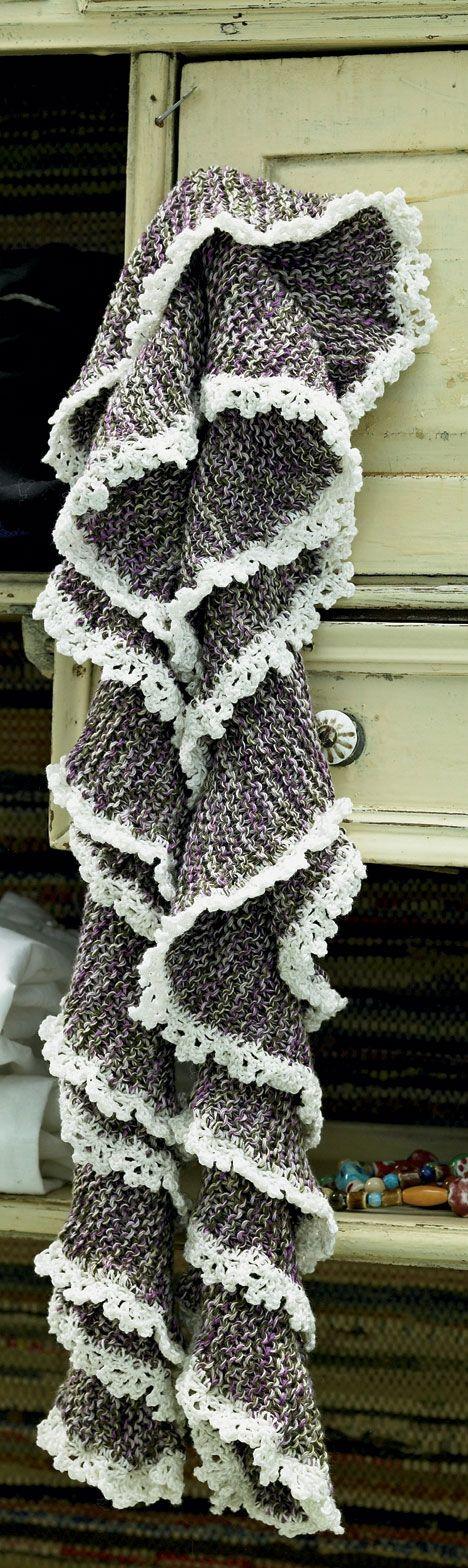 Det smukke tørklæde er meget nemmere at strikke end det ser ud
