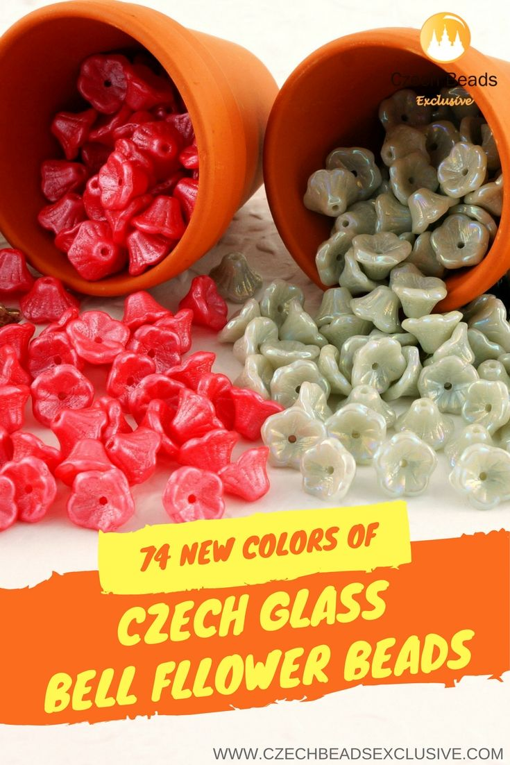 🌸 CZECH GLASS SMALL BELL FLOWER BEADS - http://www.CzechBeadsExclusive.com/+small+bell 💐74 New Colors - Buy now with discount! 🥀Hurry up - sold out very fast! ~ click link on photo! 📌SAVE them! Lowest price from manufacturer! Get free gift! 1 shipping costs - unlimited order quantity! www.CzechBeadsExclusive.com --- #summerbeads #CzechBeadsExclusive #czechbeads #glassbeads #bead #beaded #beading #handmade #bellflower #bellflowers #flowerbeads #flowerbeads #flower #flowers