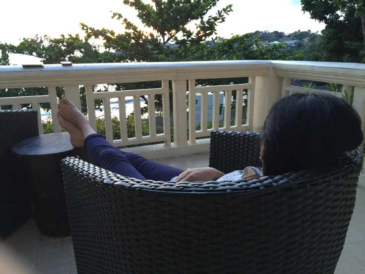 Resting by the terrace of our casita and waiting for the sun to set.