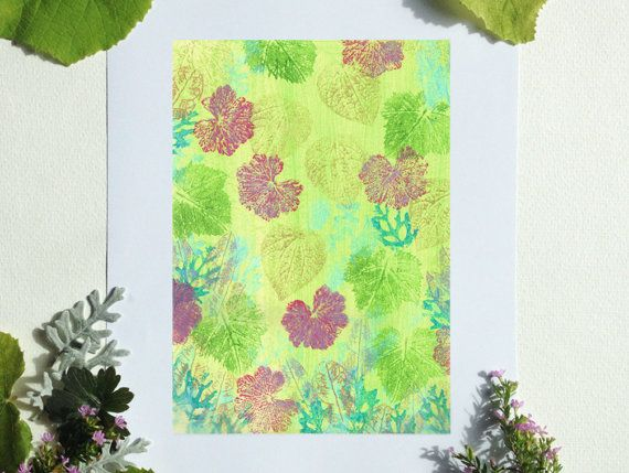 Spring Green printable art A5 size