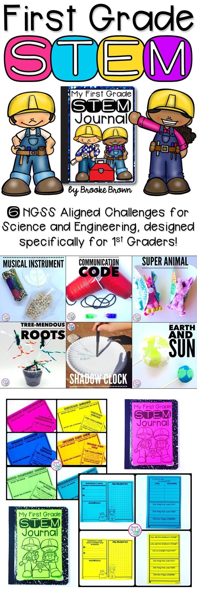 Six NGSS Aligned STEM Challenges designed specifically for first graders! Aligns with both Science and Engineering standards!