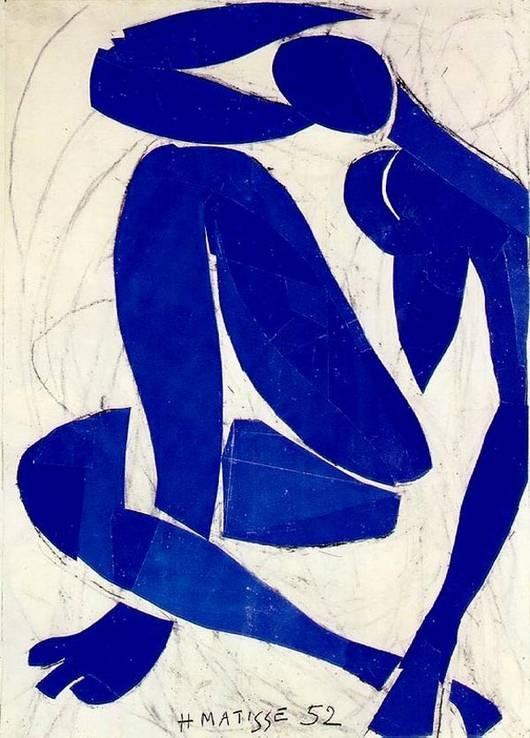 """Nu Azul"", Matisse, 1952"