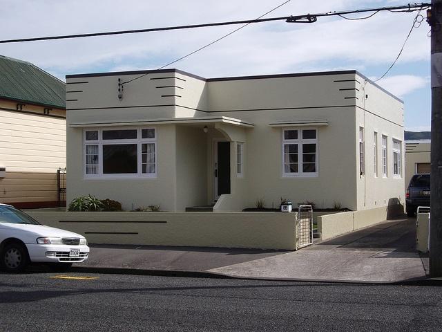 Art Deco house, Petone, Lower Hutt, NZ by Deco Danny, via Flickr
