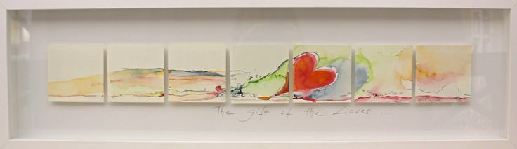 """The Gift of the Lover""; 24cm x 81cm; Watercolour on Arches Paper"