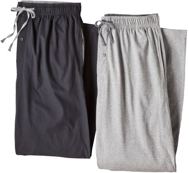 Men's Hanes 2-pk. Solid Lounge Pants