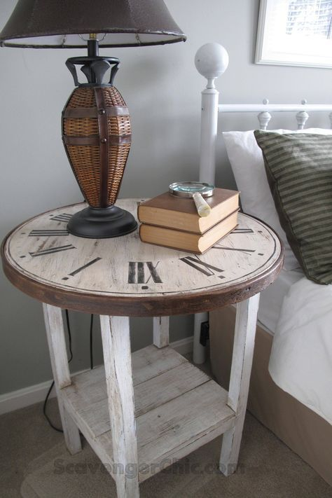 Before: $5 Side Table After: Clock Table
