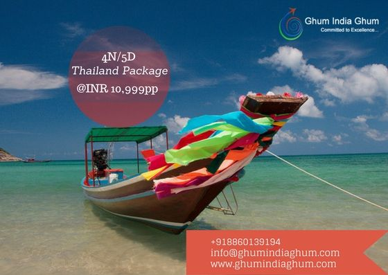 We offer Economical 5Day Thailand tour package starting from @INR8500pp Includes:-  02 Night accommodation at PATTAYA 02 Night accommodation at Bangkok Daily buffet breakfast Return transfers (Airport-Hotel-Airport) by SIC basis Coral Island tour with lunch by SIC Half day Bangkok city tour on SIC Airport taxes included