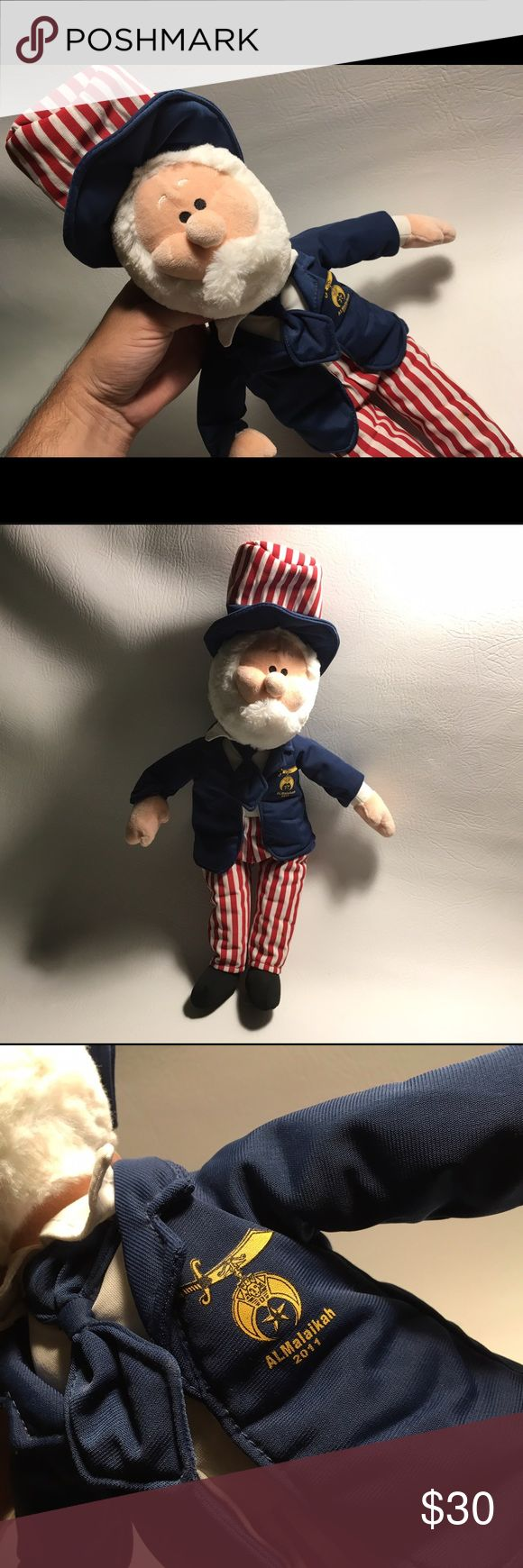 "Shriners Uncle Sam USA Plush Doll 18 Inches Fez Mint condition from 2011. 18"" Tall. shriners Other"