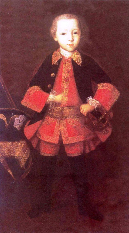 Портрет князя Фёдора Николаевича Голицына (1751-1827) в детстве