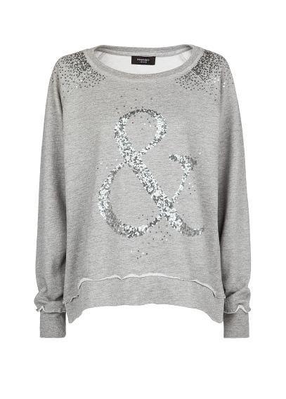 Sequin cotton sweatshirt