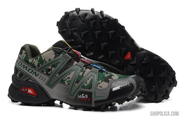 2015 Salomon Speedcross 3 CS Trail Running Shoes Camo Grey