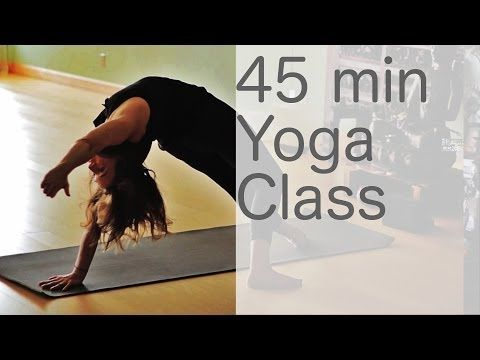 ▶ Yoga Body Workout: Free Yoga Class (Vinyasa Yoga 45 min Class) with Lesley Fightmaster - YouTube