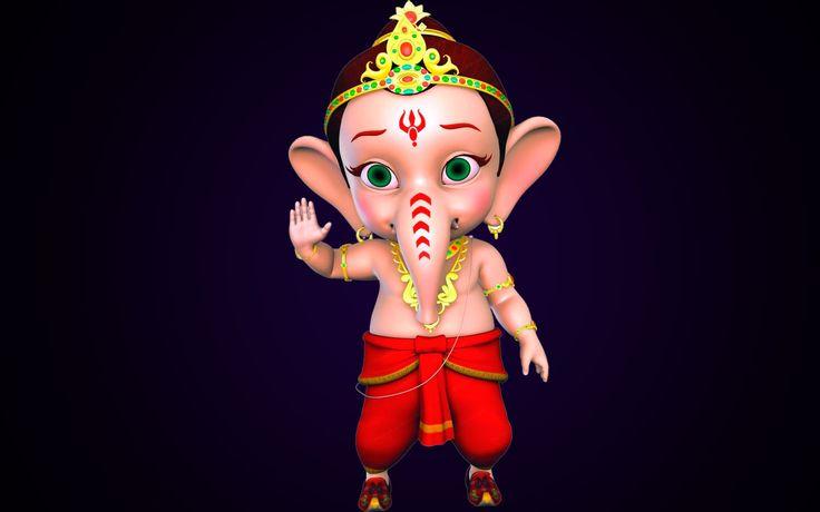 Bal Ganesh Animation Hd Wallpaper Beautiful Hd Wallpaper In 2020 Happy Ganesh Chaturthi Images Ganesh Chaturthi Images Incredible Cartoon