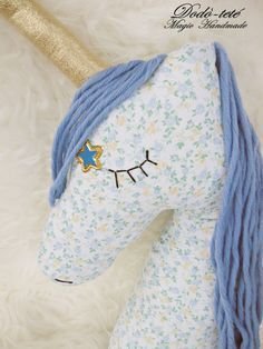 Unicorn pillow doll nursery decor cameretta unicornio licorne by Dodotete on Etsy