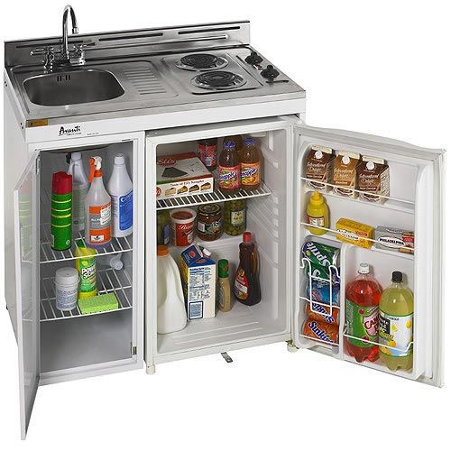 These Small All In One Kitchen Units Work Great And Are Essential For Tiny