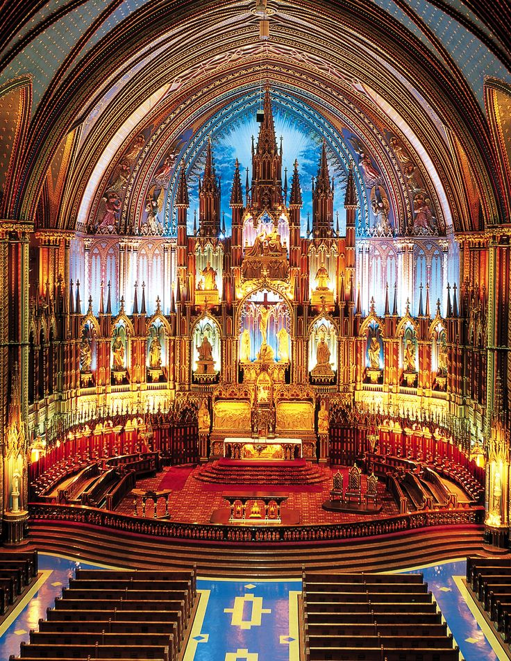 Notre-Dame Basilica - Basilique Notre-Dame:  The oldest catholic church in North America built in 1656.  A magnificent cathedral with an intricately designed interior including stained glass chronicling the history of the City.