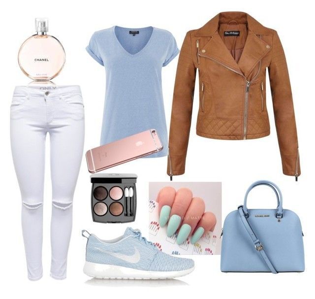 """""""Unbenannt #35"""" by c-weisskircher ❤ liked on Polyvore featuring Lipsy, Miss Selfridge, Warehouse, Chanel, Michael Kors and NIKE"""