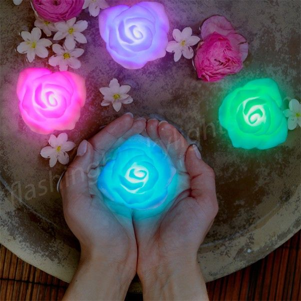 Stop and smell the roses light up color changing floating for Color changing roses