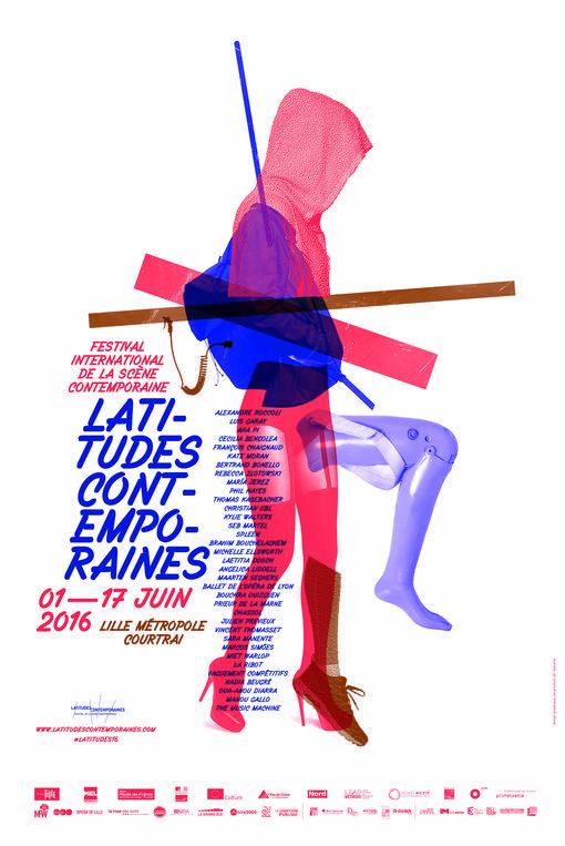 """Affiche / poster (2016) """"Latitudes Contemporaines"""" by Les produits de l'épicerie (France, Lille)"""