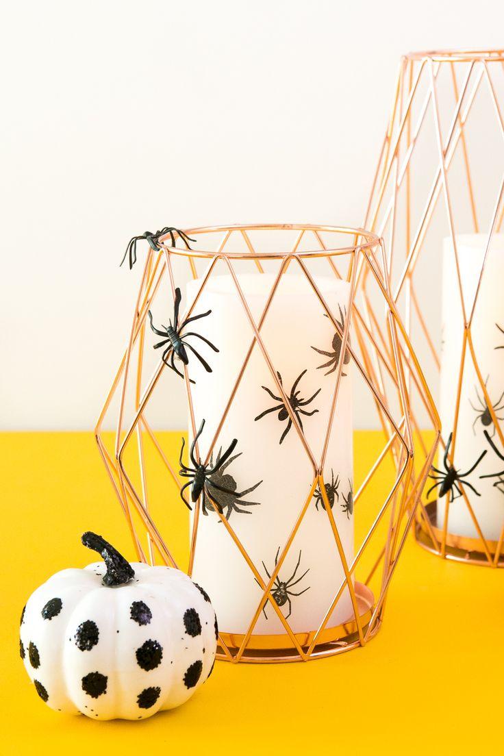 DIY Modern Halloween Candle Decor