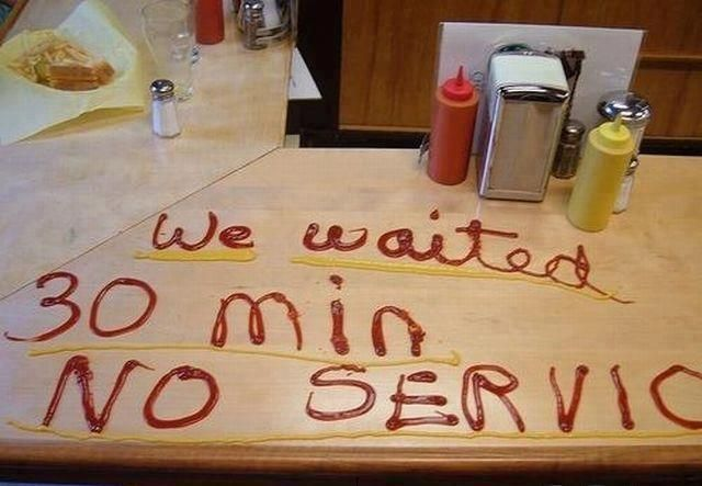 I would certainly do this... in my mind.  In reality, I'd just leave and call the manager later.