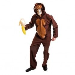 Disfraz de Mono Chimpancé. En mercadisfraces.es disponemos del mayor stock en disfraces de animales para tus fiestas de Carnaval, fiestas temáticas, representaciones teatrales o para cualquier evento divertido como despedidas de soltero/a.