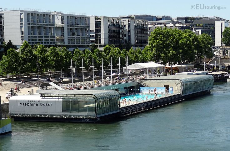 A look at the unique floating swimming pool, found along the River Seine in Paris  You may be interested in more; www.eutouring.com/images_paris_city_life.html