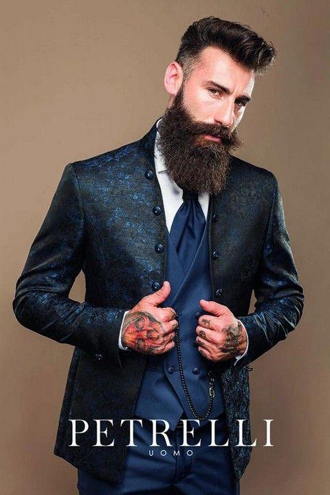 Luxusný pánsky svadobný oblek svadobný salon valery, oblek na svadbu, luxusny oblek, oblek pre ženícha, požičanie luxusneho obleku, oblek so vzorom, modrý