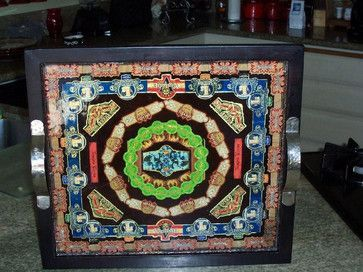 Square cigar band tray eclectic serveware