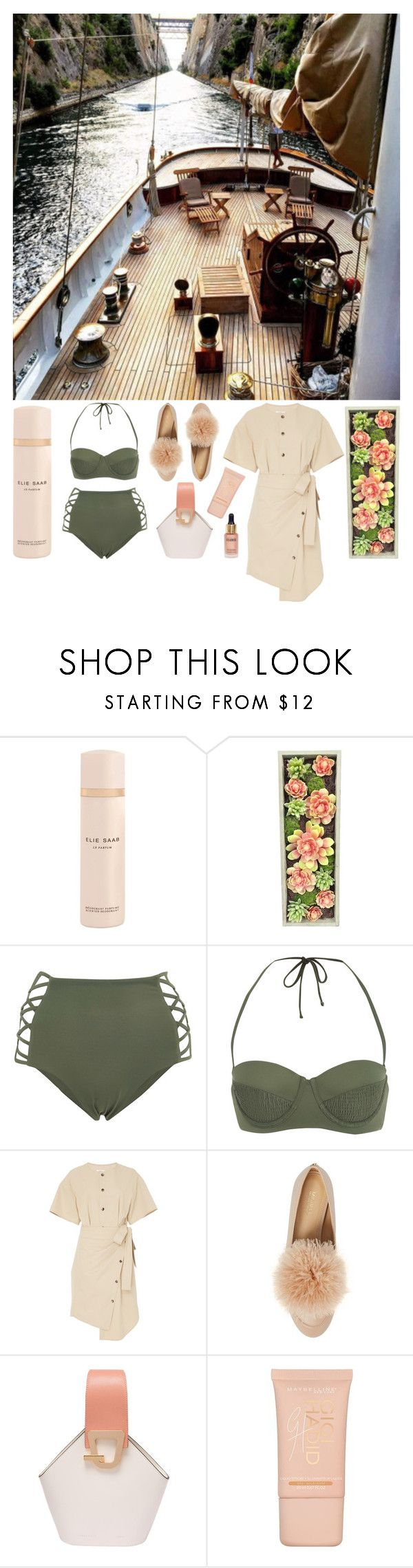 """Sailing"" by cherieaustin on Polyvore featuring Dollhouse, Elie Saab, Gold Eagle, Tori Praver Swimwear, Goen.J, MICHAEL Michael Kors, Danse Lente, Maybelline and Eloise"