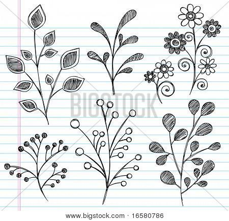 Best 25 simple flower drawing ideas on pinterest doodle flowers hand drawn sketchy notebook doodles of leaves plants and flowers vector illustration on lined sketchbook paper background stock vector ccuart Image collections