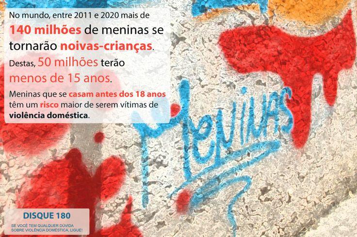 No mundo, 140 milhões de meninas se tornarão noivas-crianças até 2020. Destas, 50 milhões se casarão antes de completar 18 anos.  Meninas que se casam tão cedo são as maiores vítimas da violência doméstica, da gravidez precoce e de riscos na gestação e/ou morte para a mãe e o bebê.  Precisamos combater esse quadro!  #xoviolencia #violenciadomestica #graffiti #graffitigirls #mariadapenha #xomachismo