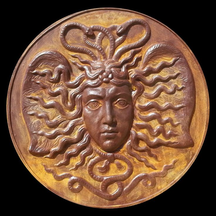 Ancient Greek sculpture Medusa Gorgon Μέδουσα. Rust Finish. Wall plaque 1.1 m #Sculptures