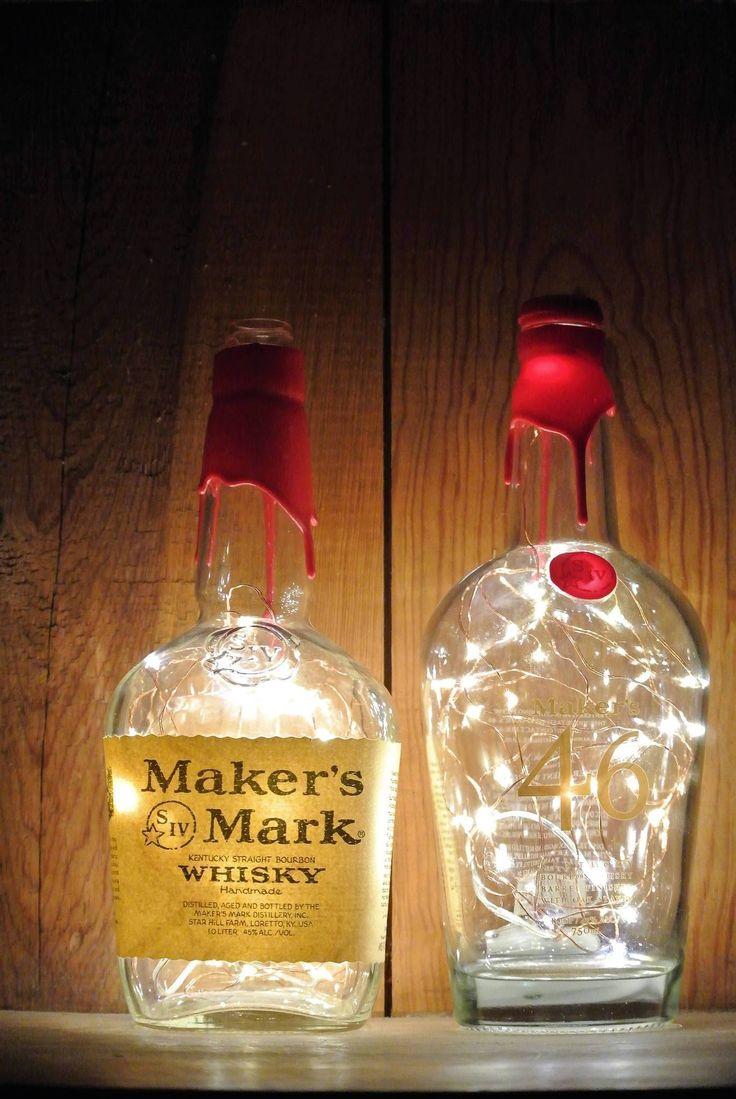 Makers Mark 46 Lighted Bottle - Fairy Lights in Bottle