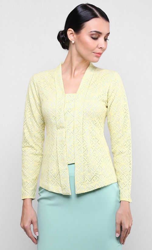 Maia Kebaya Top in Yellow