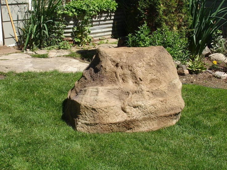 artificial rock covers septic tank lid cover so real so much better than that ugly - Garden Ideas To Hide Septic Tank