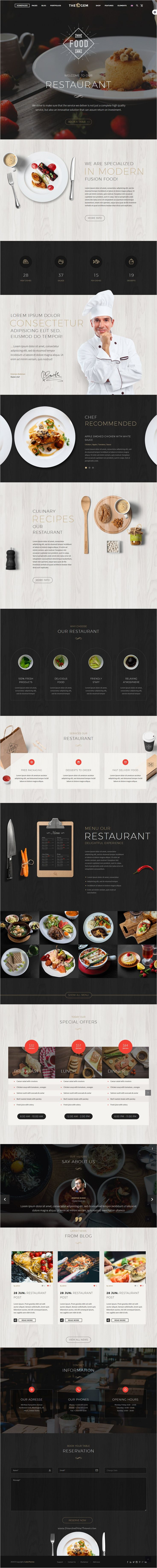 TheGem is a versatile #WordPress template with modern creative design for #restaurant business website with 40+ stunning homepage layouts download now➩ https://themeforest.net/item/thegem-creative-multipurpose-wordpress-theme/16061685?ref=Datasata