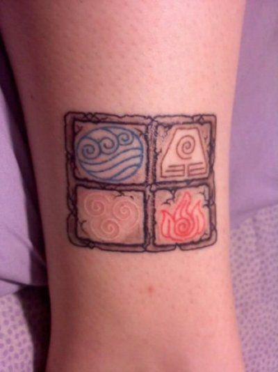 avatar last airbender tattoo 4 elements shitty pinterest. Black Bedroom Furniture Sets. Home Design Ideas
