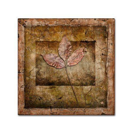 Trademark Fine Art 'Autumn Leaves II' Canvas Art by LightBoxJournal, Size: 18 x 18, Brown