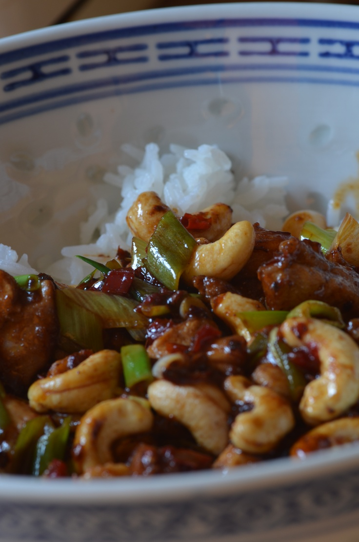 Juicy Chilli Chicken with Cashews - A Ching He Huang recipe - one of my faves